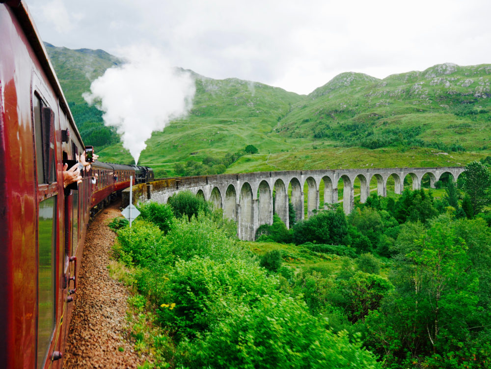 Hogwarts Express - Im Harry Potter Zug durch Schottland.