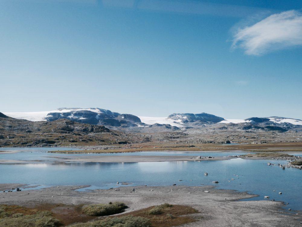 Mit der Bahn von Oslo nach Bergen in Norwegen